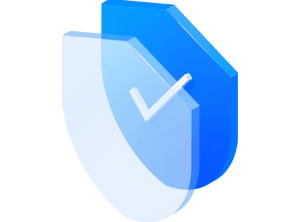 Large illustration of shield with a tick to indicate transparent and fair pricing